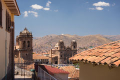 Cityscape of Cusco, Peru, with clear sky Royalty Free Stock Images