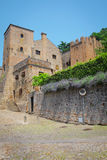 Cityscape with the custel in an old part of Monselice Stock Photography