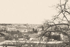 Cityscape of Czech capital Prague Royalty Free Stock Images
