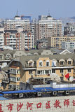 """Cityscape of Dalina, China. DALIAN-NOV. 1. The cityscape of Dalian. With 1700 people per square KM Dalian ranked 33 on the list """"Largest cities in the world Stock Photos"""