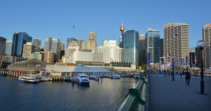Cityscape of Darling Harbour Sydney New South Wales Australia Royalty Free Stock Images
