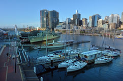 Cityscape of Darling Harbour Sydney New South Wales Australia Stock Image