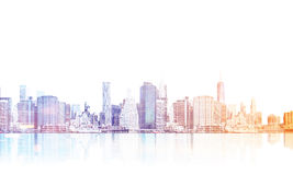 Cityscape at dawn Royalty Free Stock Photo