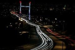 Cityscape in de avond Stock Foto's