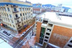 Cityscape de bouw van 815 SW Parkave in Portland van de binnenstad, OF, Stock Fotografie