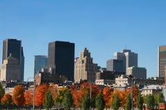 Cityscape in de herfst Stock Foto's
