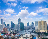 cityscape de horizon van Bangkok, Thailand Bangkok is metropool en F royalty-vrije stock foto
