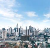 cityscape de horizon van Bangkok, Thailand Bangkok is metropool en F Royalty-vrije Stock Afbeeldingen