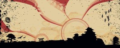 Cityscape de illustratie van Japan royalty-vrije illustratie