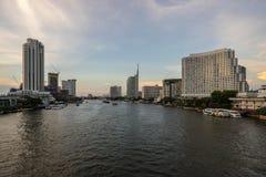 Cityscape de stedelijke stad Thailand van Bangkok royalty-vrije stock foto's