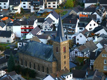Cityscape of Dernau. Kind on the city of Dernau from height of the bird's flight Royalty Free Stock Photography