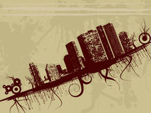 Cityscape design. Grunge style cityscape illustration design Royalty Free Stock Photo