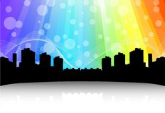 Cityscape design. Abstract background Stock Images
