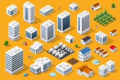 Cityscape design elements Royalty Free Stock Images