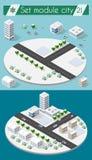 Cityscape design elements Stock Images