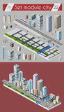 Cityscape design elements Stock Photos