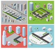 Cityscape design elements Stock Image