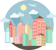 Cityscape design with summer Stock Photo