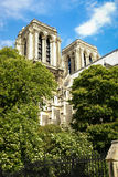 Cityscape with the details of the church, Paris, France Royalty Free Stock Photo