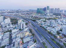 Cityscape and Dien Bien Phu street of Ho Chi Minh city Stock Photography