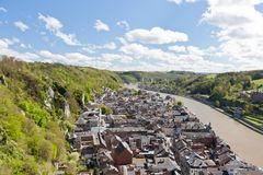 Cityscape of Dinant, Belgium Royalty Free Stock Photo