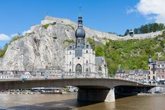 Cityscape of Dinant, Belgium Royalty Free Stock Photos