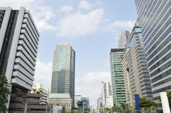 Cityscape of the distric business Bangkok Royalty Free Stock Images