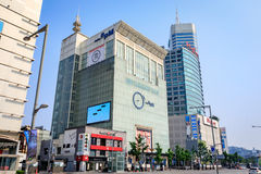 Cityscape of Dongdaemun on Jun 18, 2017. It is a commercial and Royalty Free Stock Photos