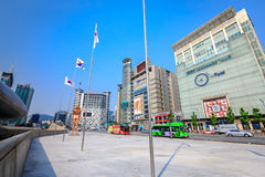 Cityscape of Dongdaemun on Jun 18, 2017. It is a commercial and Stock Photography