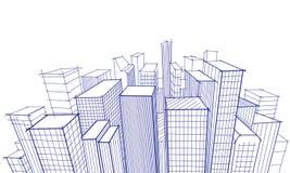 Cityscape Doodle Sketch royalty free stock photos