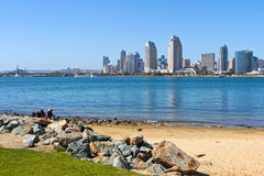 Cityscape of Downtown City of San Diego, USA Royalty Free Stock Images