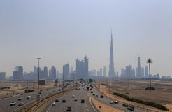 Cityscape of Downtown Dubai district Royalty Free Stock Image