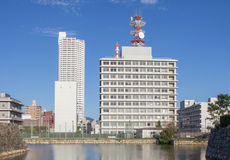 Cityscape of Downtown Hiroshima Royalty Free Stock Image