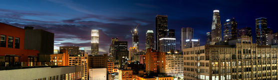 Cityscape of Downtown Los Angeles Royalty Free Stock Image