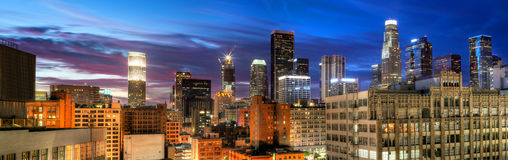 Cityscape of Downtown Los Angeles Stock Photos