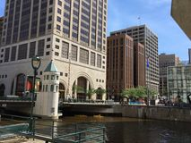 Cityscape  in downtown Milwaukee, Wisconsin, USA Royalty Free Stock Photos