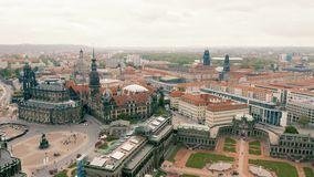 Cityscape of Dresden. Aerial view stock video
