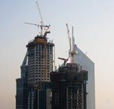 Cityscape of Dubai. Towering city skyscraper blocks in Dubai stock photography