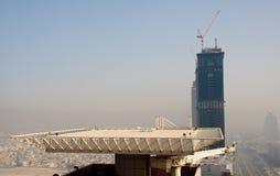 Cityscape of Dubai. Towering city skyscraper blocks in Dubai royalty free stock photography