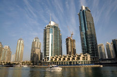 Cityscape of Dubai Marina royalty free stock photos