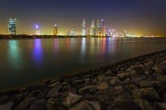 Cityscape of Dubai at night Royalty Free Stock Photo