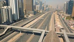 Cityscape of Dubai. United Arab Emirates. Aerial view stock video