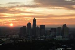 Cityscape at dusk. Stock Image