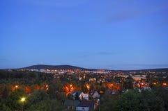 Cityscape at dusk Stock Image