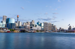 Cityscape at dusk. Sydney, Australia Royalty Free Stock Images