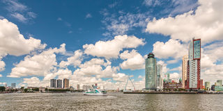 Cityscape of the Dutch city Rotterdam Royalty Free Stock Images