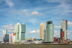 Cityscape of the Dutch city Rotterdam Royalty Free Stock Photos