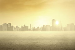 Cityscape in the early morning Royalty Free Stock Images