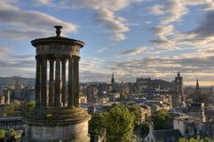 Cityscape of Edinburg city, Scotland UK Royalty Free Stock Photos
