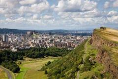 cityscape edinburgh Fotografering för Bildbyråer